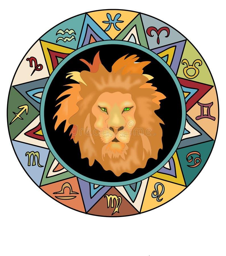 利奥黄道带符号 皇族释放例证