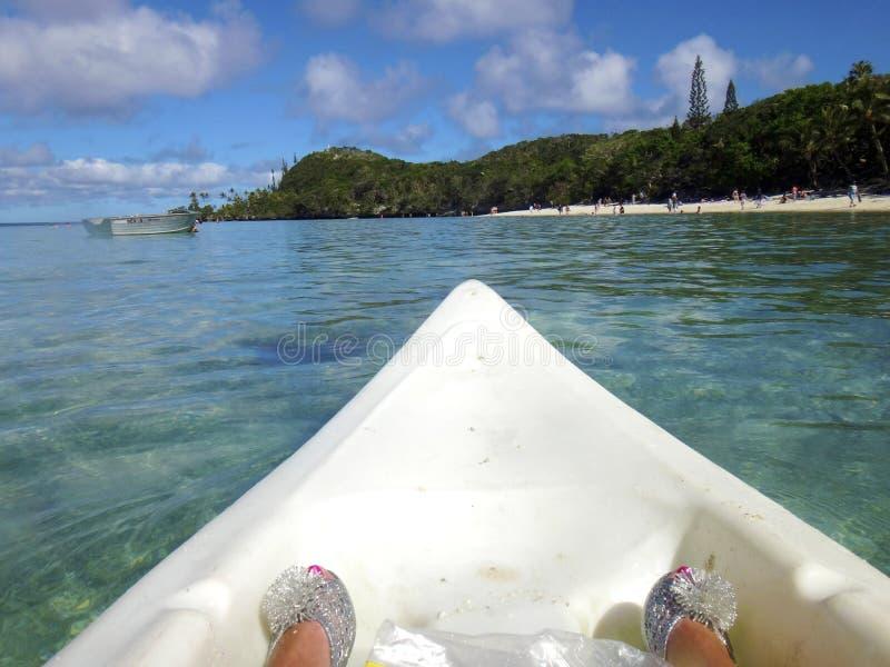 利富岛,洛亚蒂群岛,努美阿场面  免版税库存照片