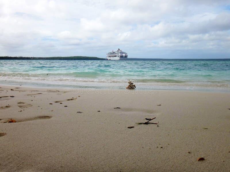 利富岛,洛亚蒂群岛,努美阿场面  免版税库存图片