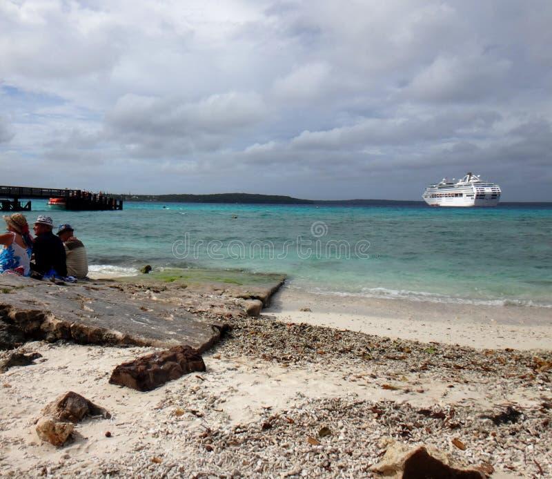 利富岛,洛亚蒂群岛,努美阿场面  库存图片
