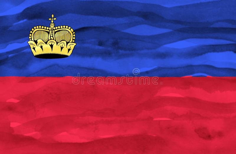 利希滕斯泰因的被绘的旗子 免版税库存照片
