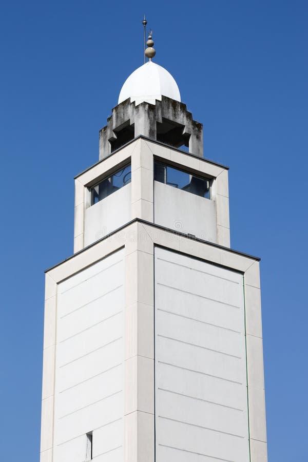 利昂伟大的清真寺的尖塔  免版税库存图片