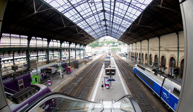 利昂火车站 免版税库存图片