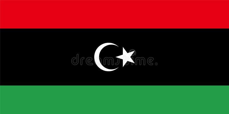 利比亚传染媒介旗子 利比亚的国家标志 向量例证