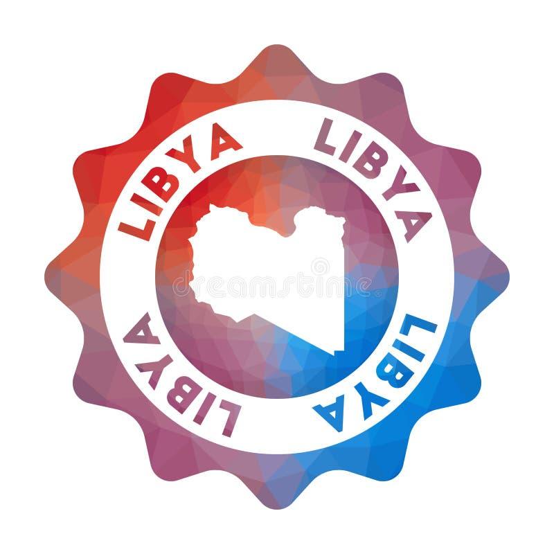 利比亚低多商标 向量例证
