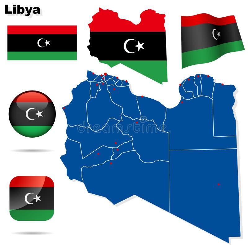 利比亚向量集。 皇族释放例证