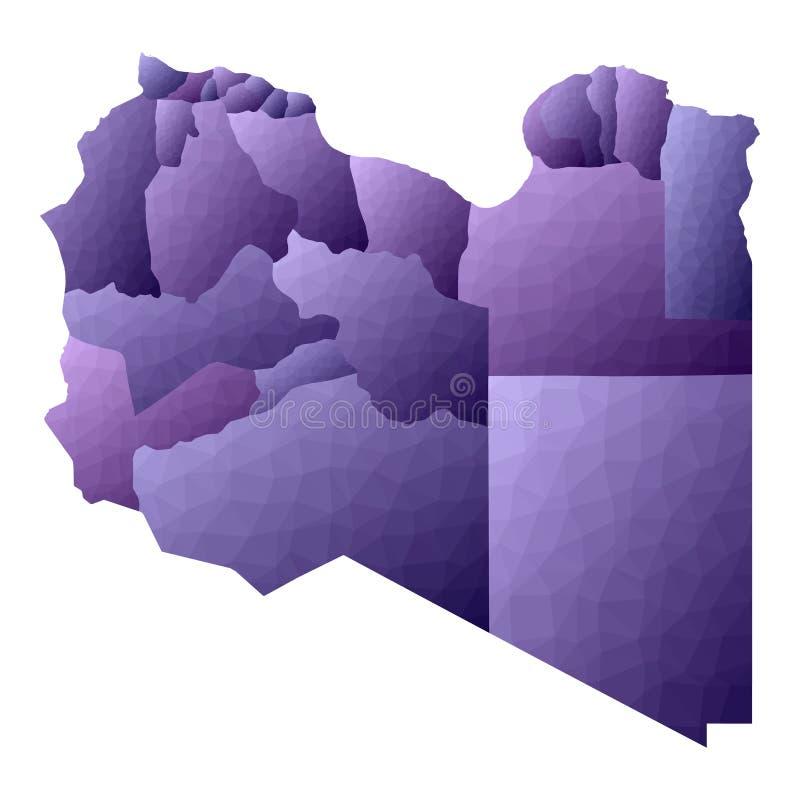 利比亚地图 库存例证