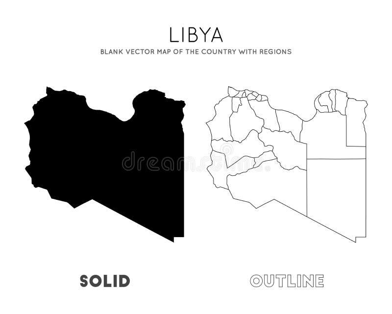 利比亚地图 皇族释放例证