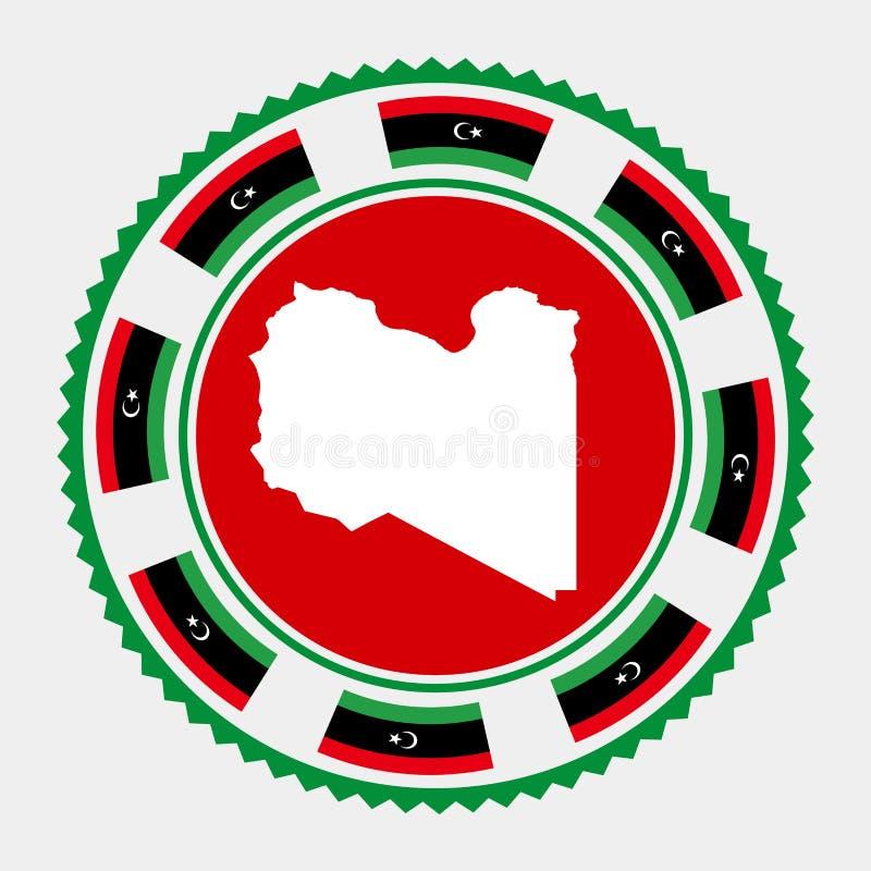 利比亚平的邮票 向量例证