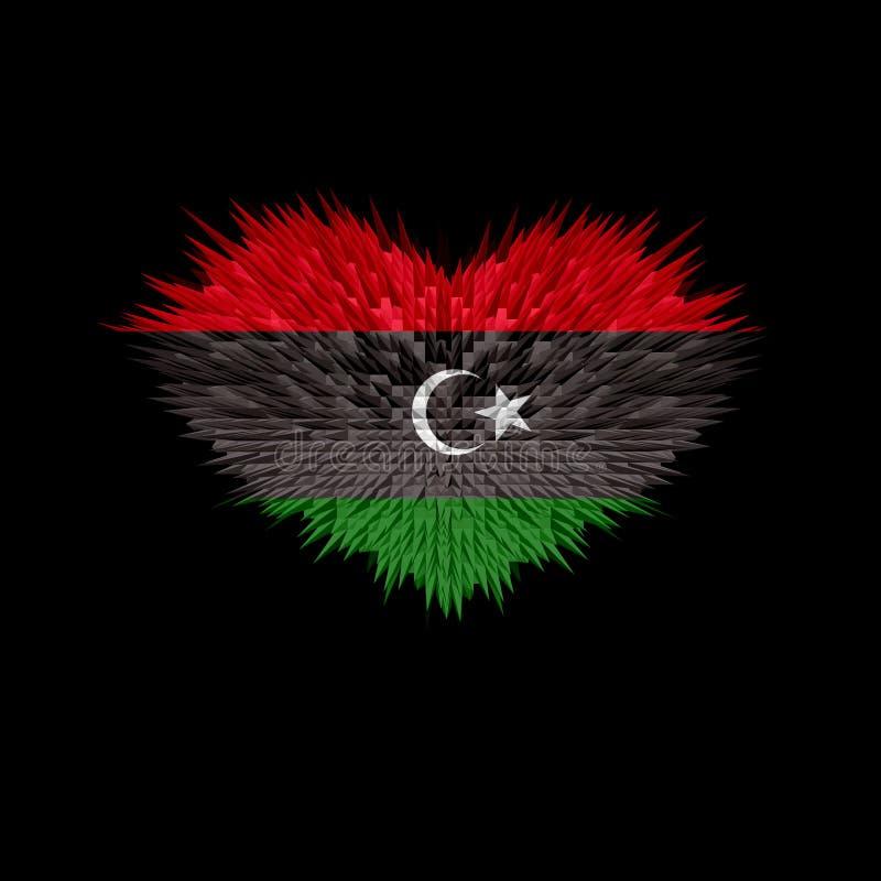 利比亚旗子的心脏 皇族释放例证