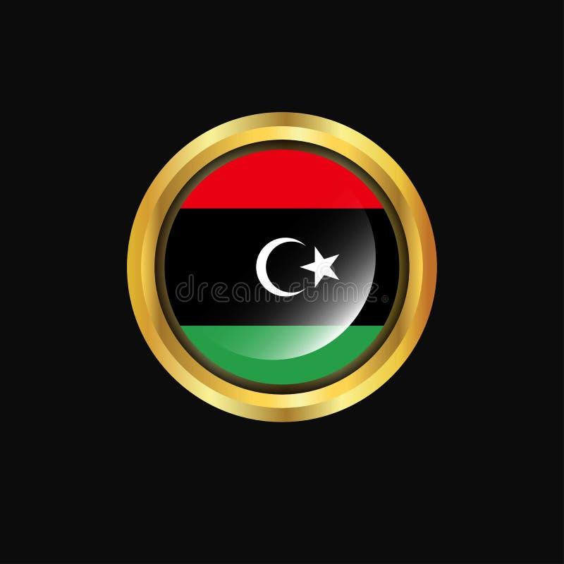利比亚旗子金钮扣 向量例证