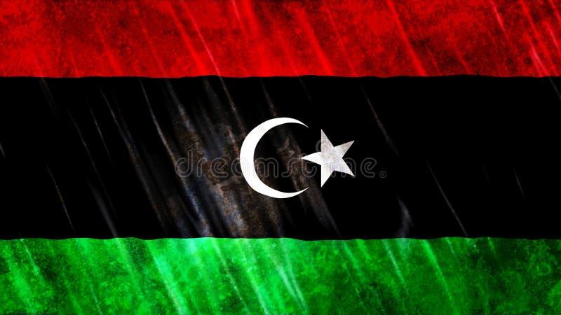 利比亚旗子 皇族释放例证