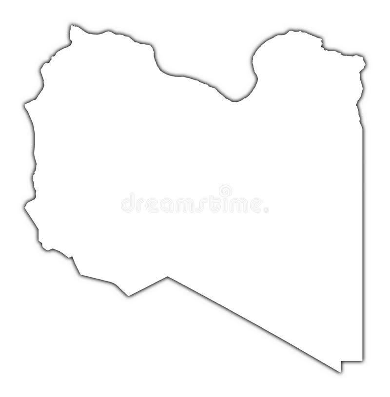 利比亚映射分级显示 皇族释放例证