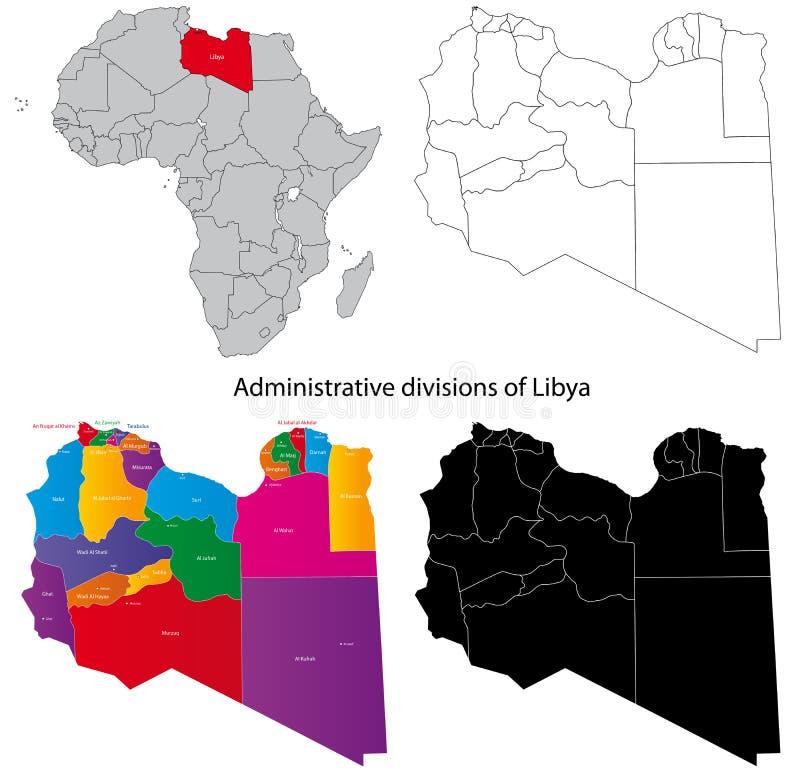 利比亚映射 库存例证