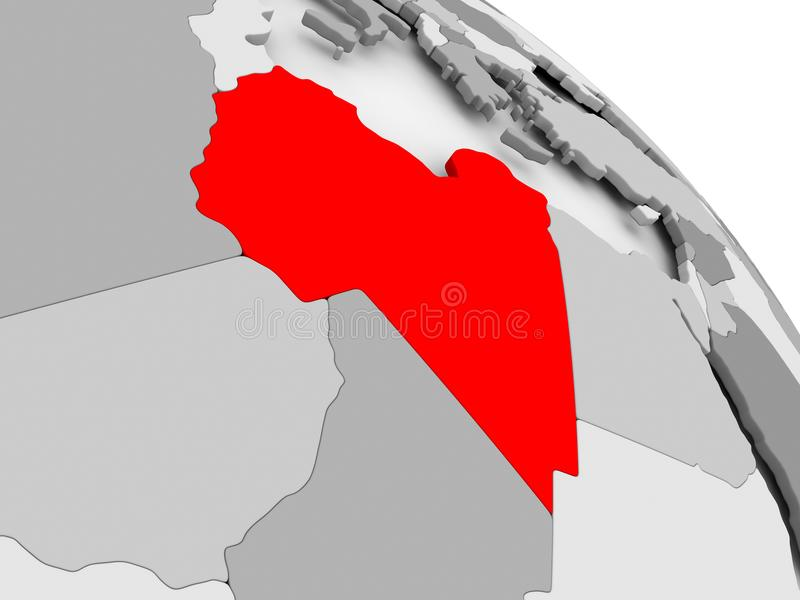 利比亚映射 皇族释放例证