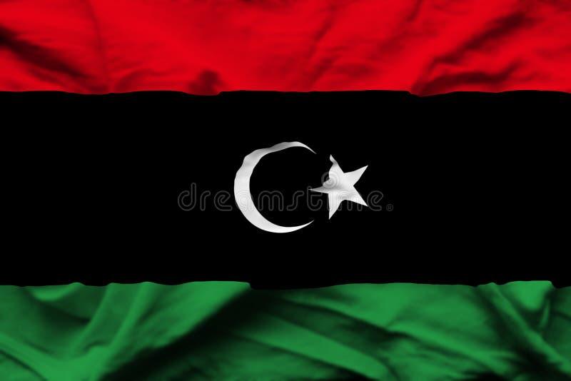 利比亚现实旗子例证 向量例证