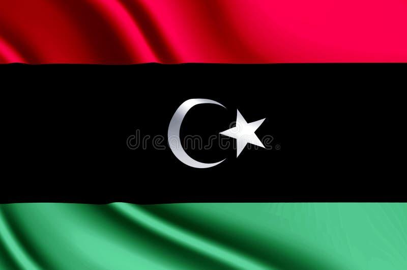 利比亚现实旗子例证 皇族释放例证