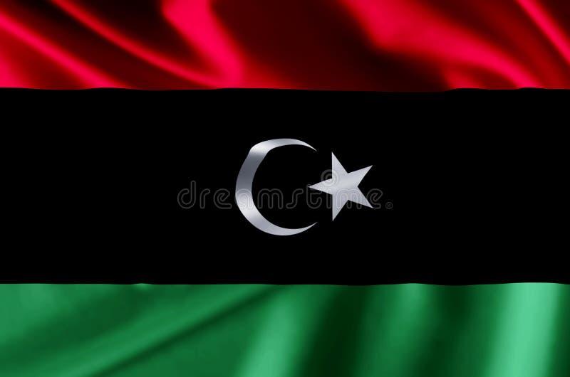 利比亚现实旗子例证 库存例证