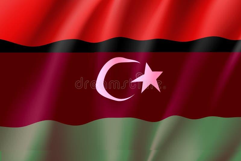 利比亚现实旗子 库存例证