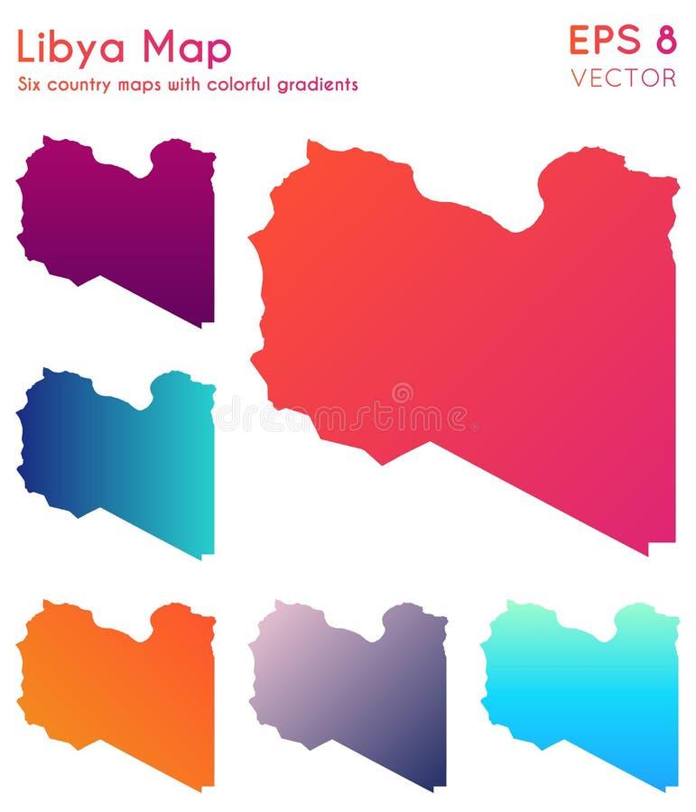 利比亚的地图有美好的梯度的 皇族释放例证