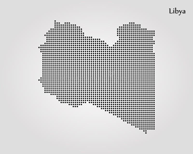 利比亚的地图 r E 向量例证