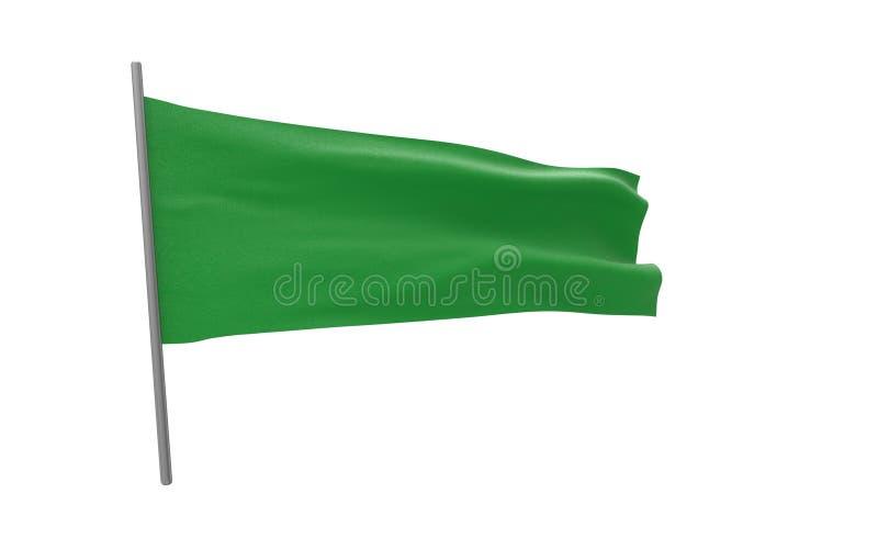 利比亚的旗子 库存例证