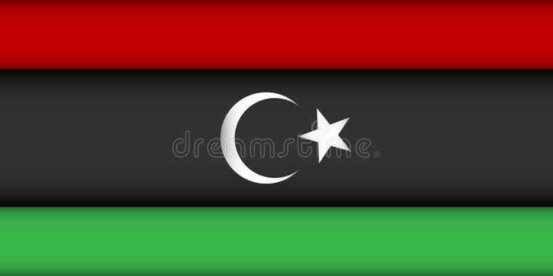 利比亚的旗子 皇族释放例证