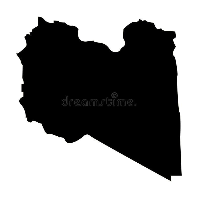 利比亚的疆土白色背景的 库存例证