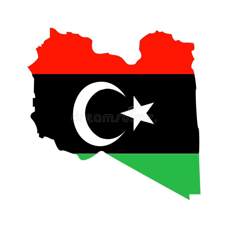 利比亚的疆土白色背景的 皇族释放例证