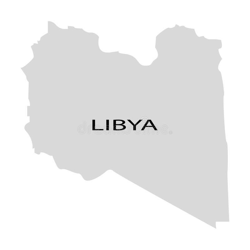 利比亚的疆土白色背景的 向量例证