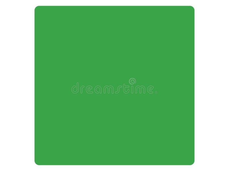 利比亚的老方形的旗子 库存例证