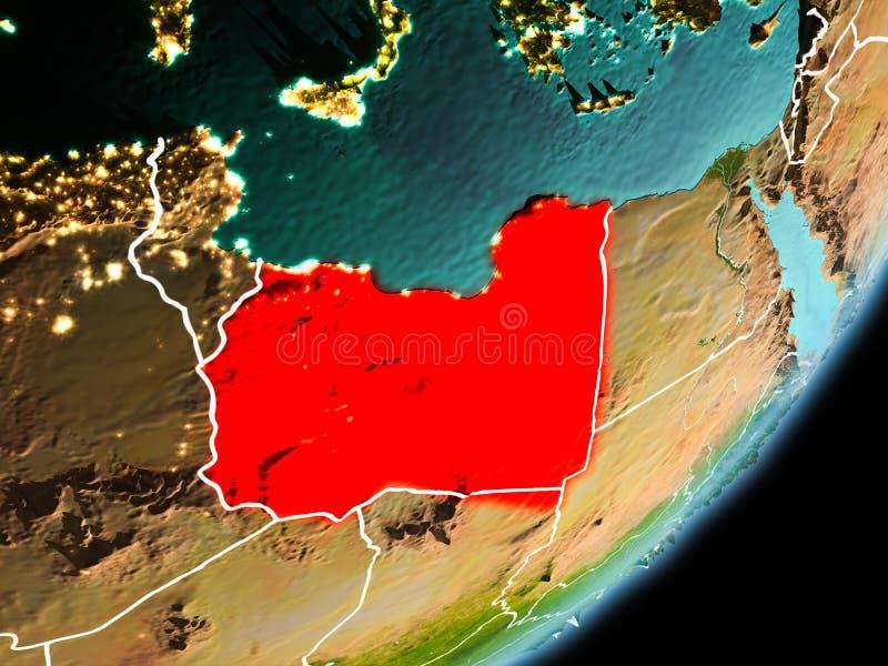利比亚的轨道视图 皇族释放例证