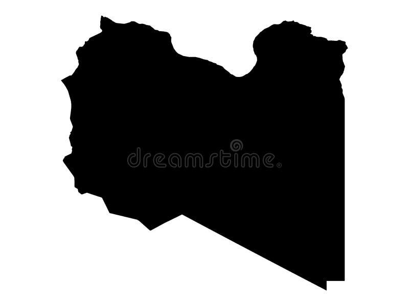 利比亚的黑地图 皇族释放例证