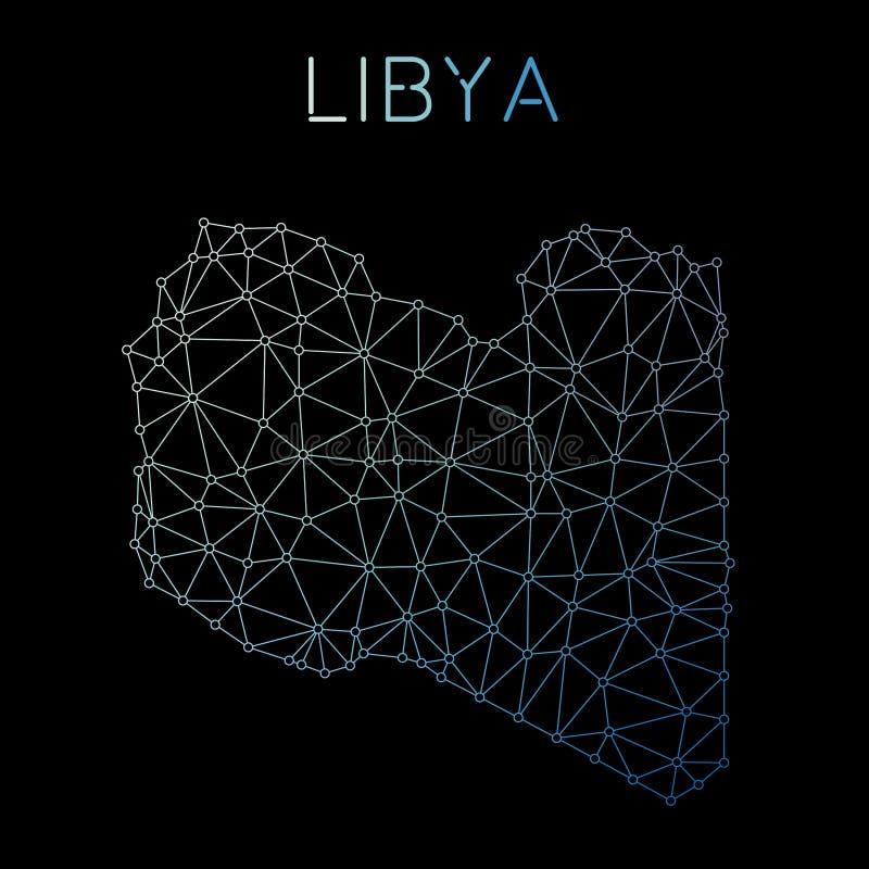利比亚网络映射 库存例证