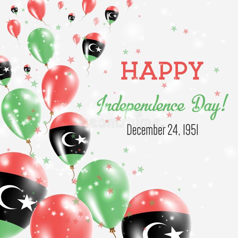 利比亚美国独立日贺卡 皇族释放例证