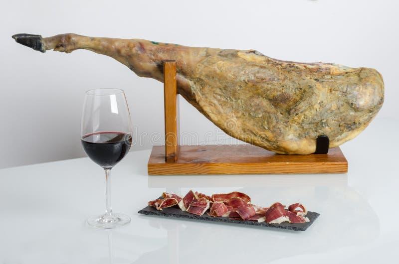 利比亚西班牙火腿, bellota火腿 免版税库存图片