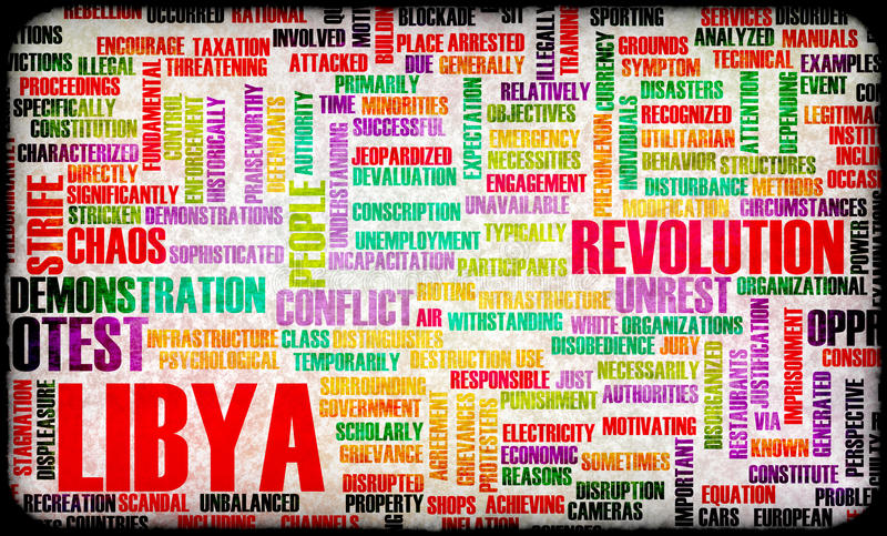利比亚起义 向量例证