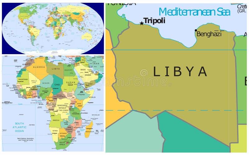 利比亚&世界 向量例证