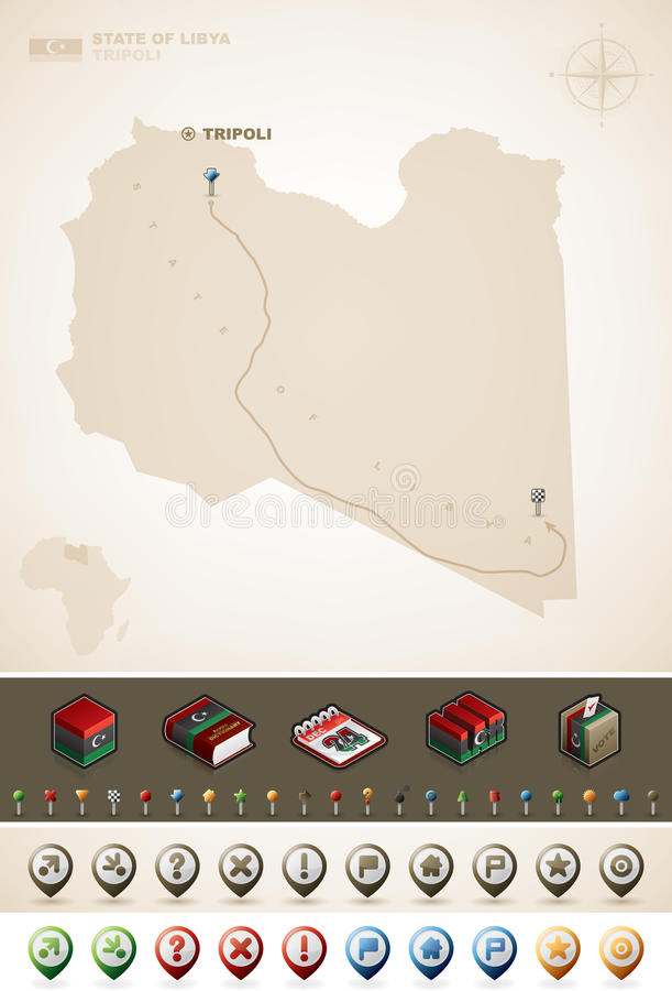 利比亚 向量例证