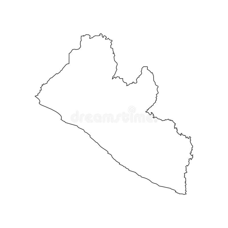 利比里亚地图剪影 皇族释放例证