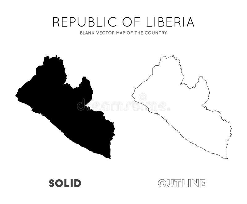 利比里亚地图 皇族释放例证