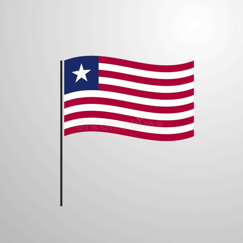 利比里亚挥动的旗子 向量例证