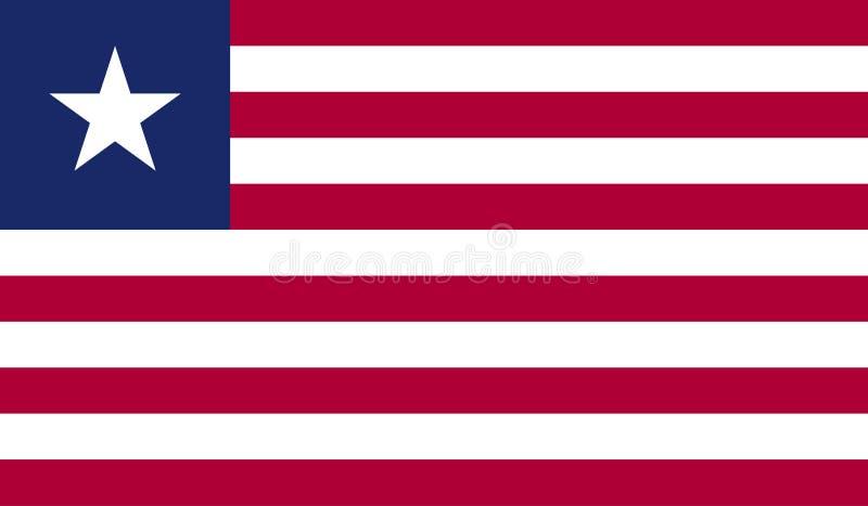 利比里亚旗子图象 库存例证
