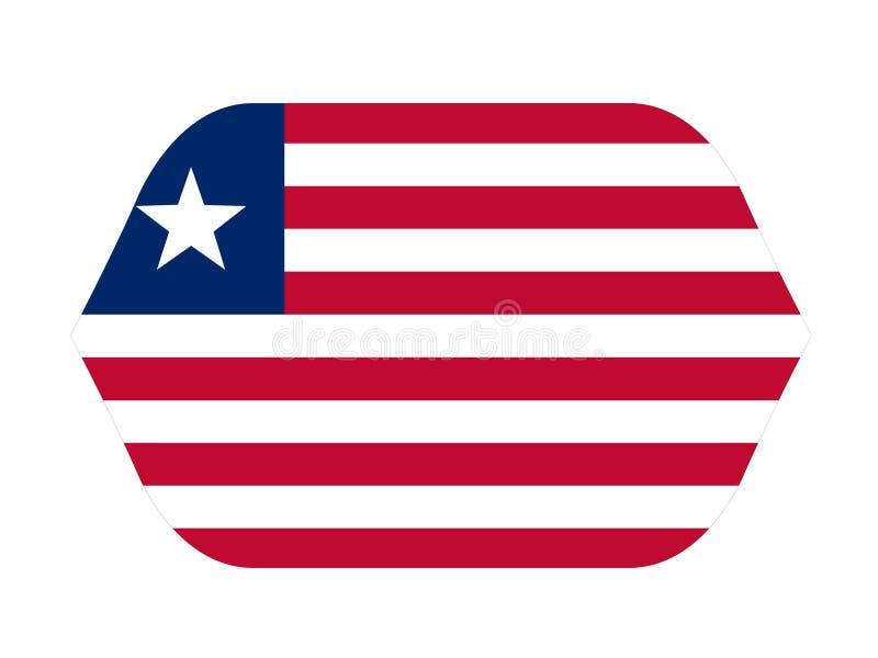 利比里亚旗子-利比亚共和国 皇族释放例证