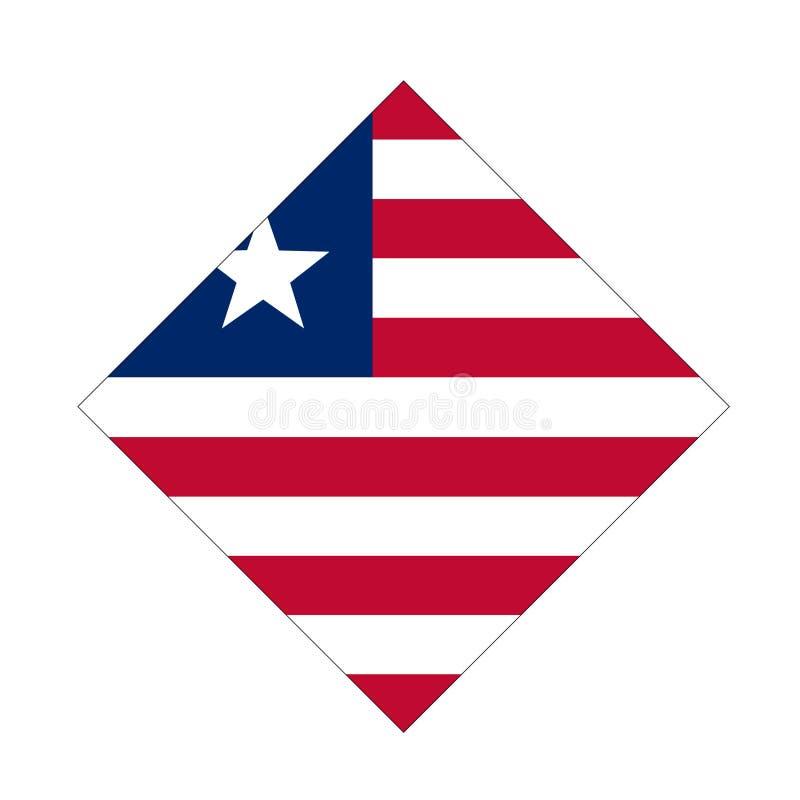 利比里亚旗子-利比亚共和国 库存例证