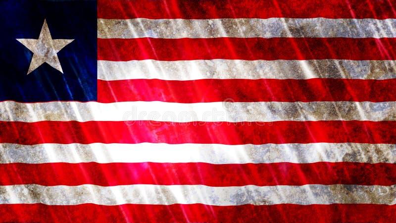 利比里亚旗子 向量例证