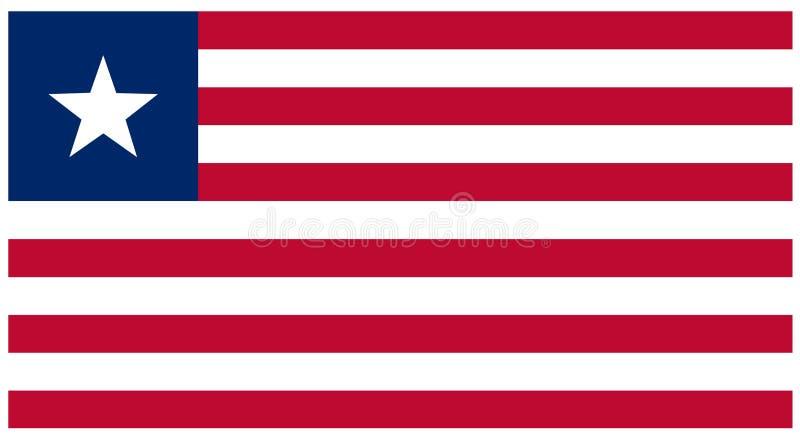 利比里亚旗子-横幅,非洲,国家 向量例证
