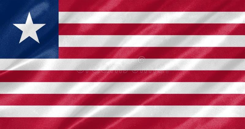 利比里亚旗子 库存例证