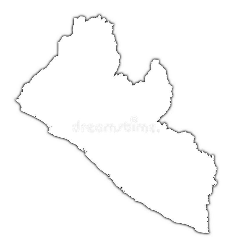 利比里亚映射分级显示 皇族释放例证
