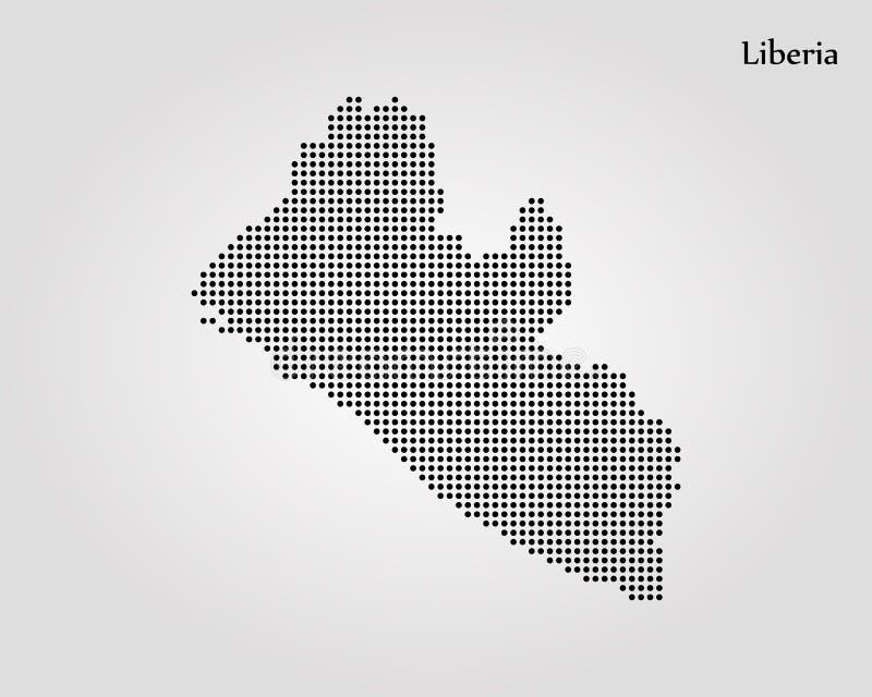 利比里亚的地图 r E 向量例证
